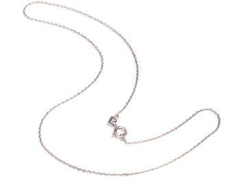 36 cm 925 Sterling silver narrow anchor chain 4-speed diamond cut