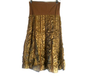 Vintage 80s Cotton Skirt Zashi New Old Stock