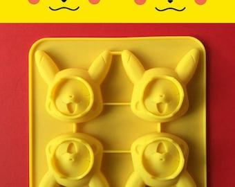 Pokemon Go Pikachu ice tray cake mold Japan Pokemon Jello cake silicone mold pokemon party