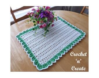 Crochet Dining Table Mat Crochet Pattern (DOWNLOAD) CNC92