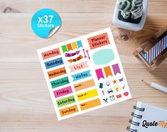 37 Daily Planner Stickers