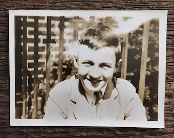 Original Vintage Photograph Sonny Smile