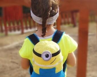Crochet Minion backpack PDF PATTERN