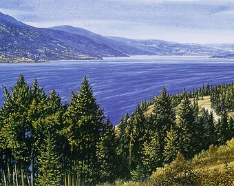"""LANDSCAPE ART PRINT - """"Pride of the Okanagan"""", Limited Edition Giclee Print on Fine Art Paper of Western Canada Landscape."""