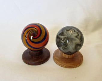Vintage Art Glass Marbles - Blown Glass Handmade