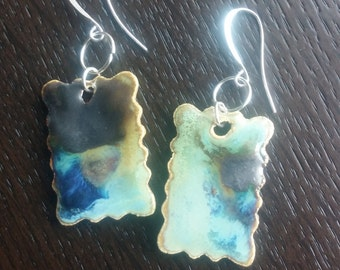 Rectangle Pottery Earrings (5 color options)
