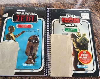 C-3PO & R2-D2 Recycled Original Vintage Star Wars Notebook/Journal (ESB/ROTJ)