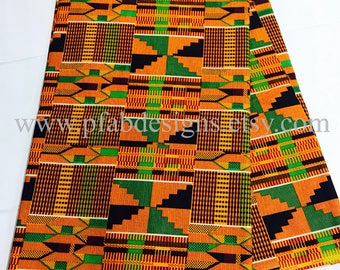 Kente Fabric/Kente African Fabric/Crafts/African Clothing/ Ankara / Kente Dress/Kente Fabric Wax Sold per Yard