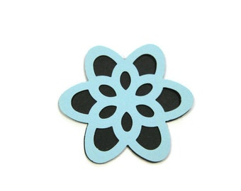 Paper Wild Flower Layer Cut Outs Set of 25