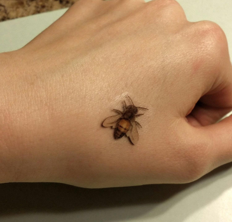Honey Bee Tattoo Realistic Tattoos Temporary