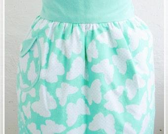 Polka-dots apron Retro half apron Mint aprons Womens aprons Vintage apron Pin up Apron Kitchen decor Gift for mom