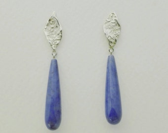ATITLAN Earrings with purple gemstones