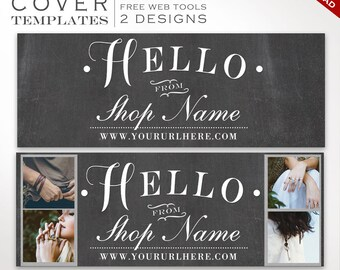 Facebook Cover Template - Chalkboard DIY Facebook Cover Image Design - Facebook Cover Photo Facebook Cover Banner Photography SMFB AAA