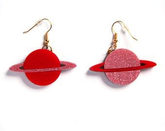 Saturnus (Acrylic Earrings)