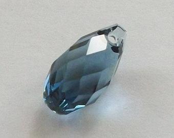 13mm Swarovski Crystal Pendants  BRIOLETTE Pendant Style 6010 DENIM BLUE  - 1 piece