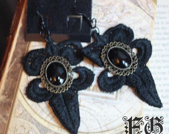 Gothic Lace Pendant Earrings
