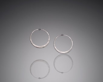 Extra Small Silver Hoop Earrings  // Minimalist Hoops Earrings // Simple Sterling Silver Hoop Earrings // Ready to Ship // Mostly Sweet
