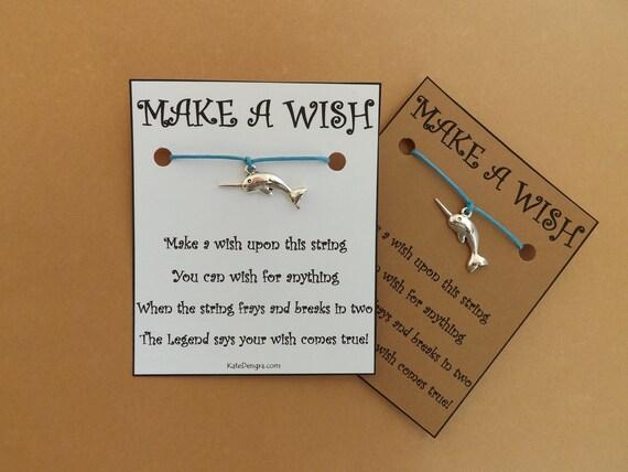 Narwhal Ocean Inspired Wish Bracelet
