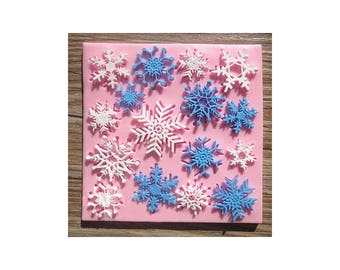Christmas Snowflake Fondant Mold Cake Silicone Mould Decorating Tool BG1010770