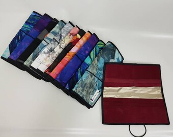 Silk and Leather Identity Protection Wallet