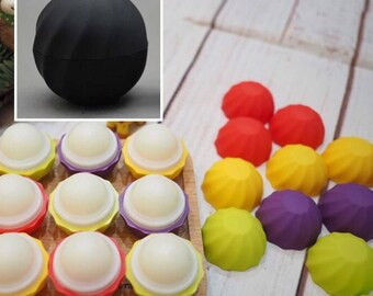 5pcs Black Diy Sphere Lip Balm Containers, Cosmetic Ball Lip Balm Case Lip Balm Ball Container Tubes