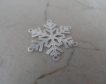 """2 connectors snowflakes """"snow Queen"""" stainless steel"""