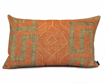 Dark Orange Pillow Etsy