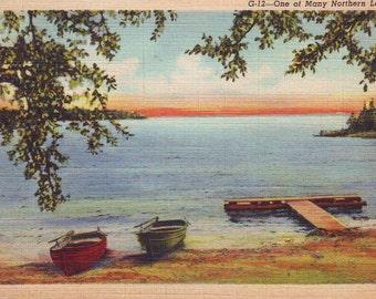 Vintage Stamped Post Card, 1941