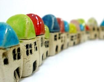 Fairy garden accessories Ceramic beach cottage Ceramic miniature houses Home decoration Terrariums & Miniature Gardens