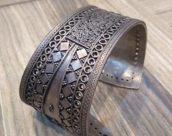 Handmade 925 sterling silver bangle, Adjustable bangle