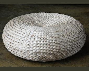 Round rustic floor cushions/floor pouf/Straw pouf/Pouf ottoman/Wholesales Bulk/meditation cushion/wedding gift/Country decor/GrasShanghai