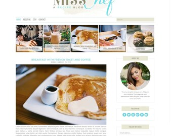 Miss Chef Responsive Blogger Theme - Premade Blogger Theme