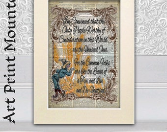 The Wizard of Oz Scarecrow, Home Decor, poster print on antique dictionary book page, Wall Hangings