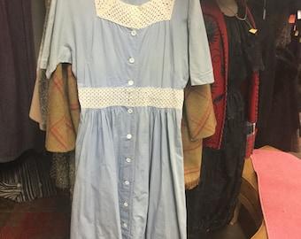 Baby Blue Lacey Sweet Heart Dress