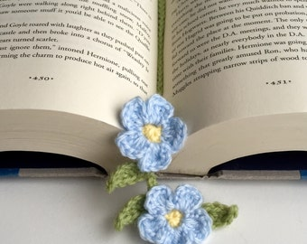 Forget me not/crochet bookmark/bookmark/unique gift/teacher's gift