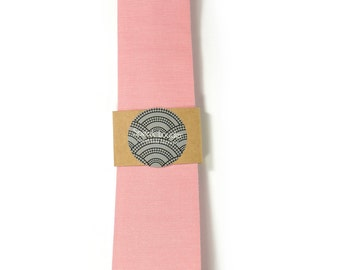 Pink necktie - Wedding Mens Tie Skinny Necktie organic cotton- Laid-Back necktie