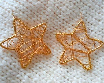 Star Shaped Earrings Lucky Star Gold Earrings for Everyday Holiday Special Occasion Earrings