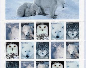 1999 Arctic Animals (15)Mint-Unused- Scott #3288-3292 Full Sheet