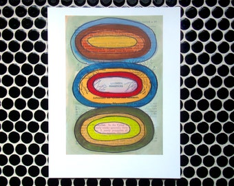 Stacked Circles - Fine Art Giclee Print Geometrical Art
