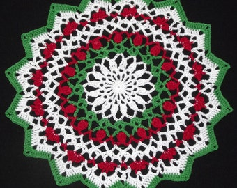 Christmas Doily - small - 9""