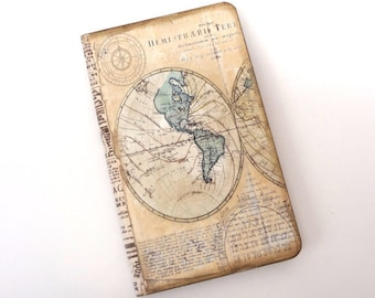 Map travel journal world map notebook atlas diary pocket travel log mini map notebook vacation journal compass travel diary gumiabroncs Image collections