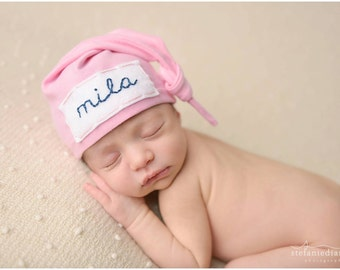 personalized baby hat - coming home outfit- name hospital hat- baby shower  gift - 4a7bec825ada