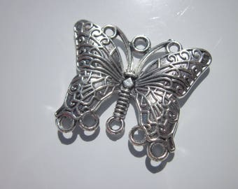 Butterfly antique silver connector 34 * * 20 mm