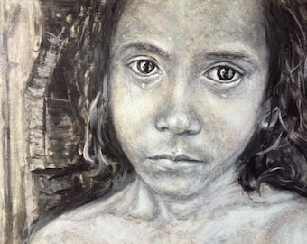 Young Sad Girl Oil Painting