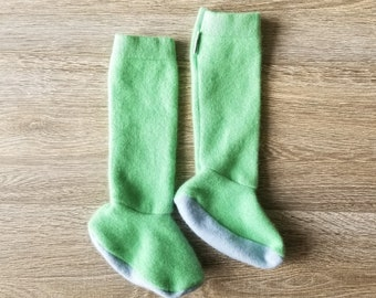Toddler Cashmere Socks // Lime // Size 1-9C // Boot Socks