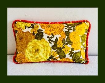 Melani Yellow Bolster Pillow