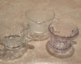 3 cups-1 Sandwich pattern, 1-Oatmeal, and 1-miscellaneous