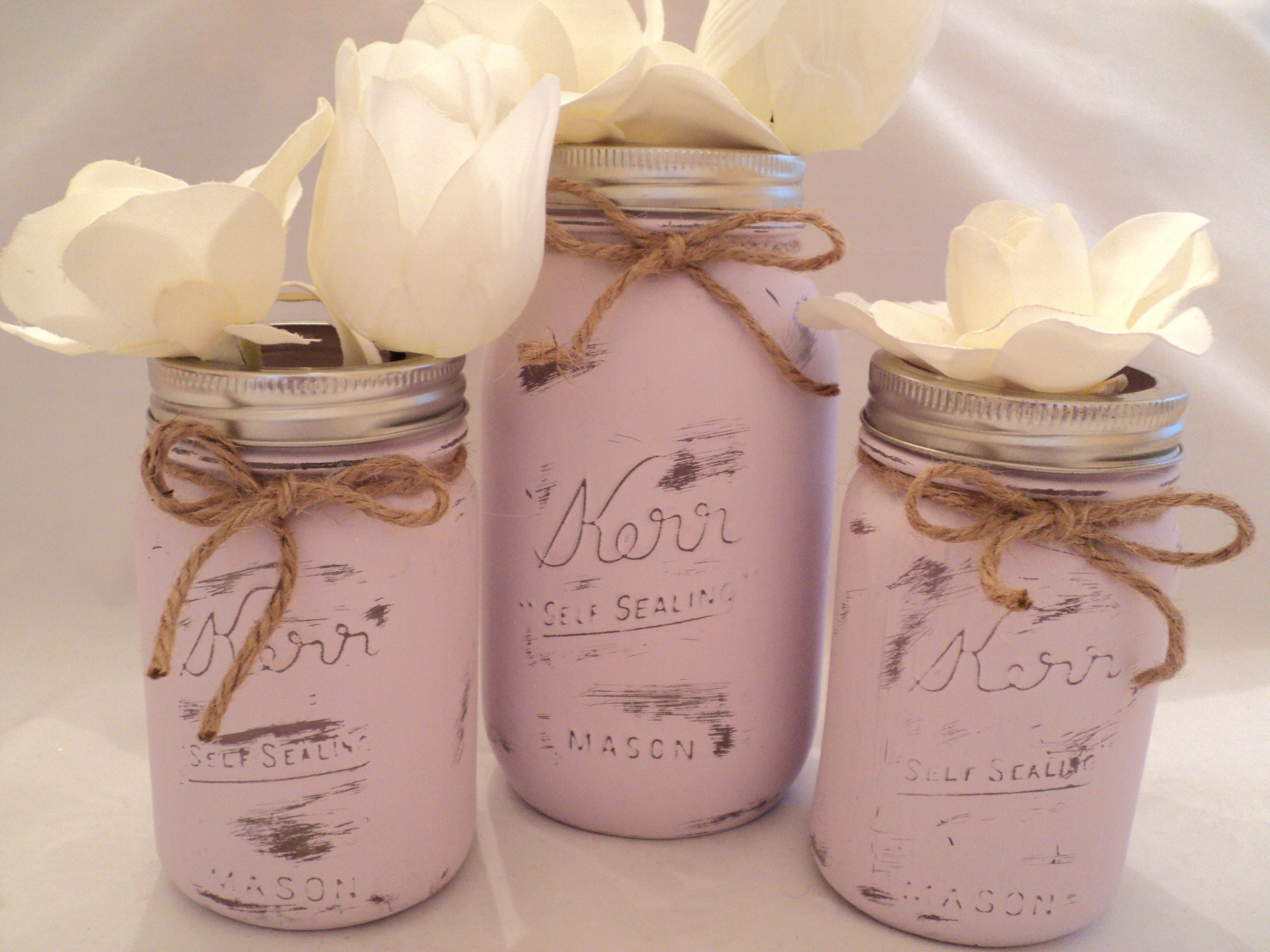 Distressed Mason Jar Mason Jar Bath Set Shabby Chic Mason