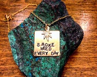 Smoke Weed Every Day Charm Necklace