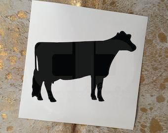 Dairy Cow Vinyl Sticker